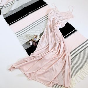 vtg s m pink dress lingerie night gown